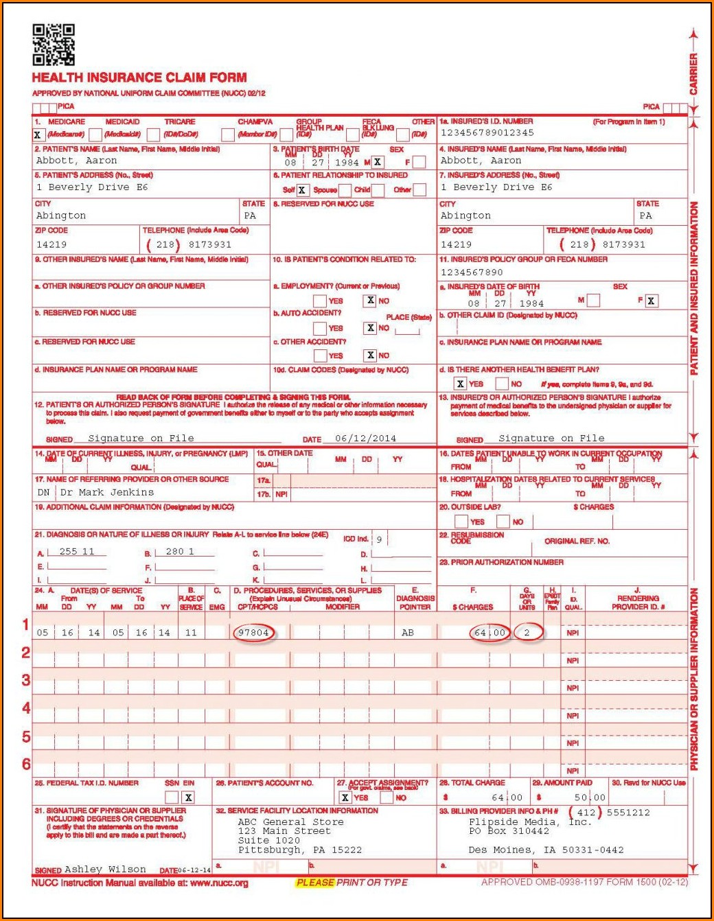 completed-cms-1500-form-sample